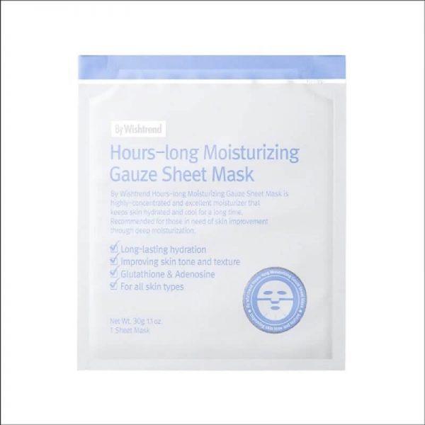By Wishtrend Hours Long Moiturizing Gauze Sheet Mask