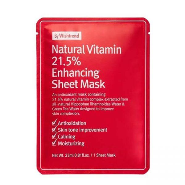 By Wishtrend Natural Vitamin 215 Enhancing Sheet Mask